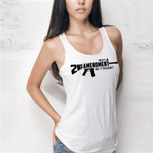 Women's Tank Top 2nd Amendment AR15 white