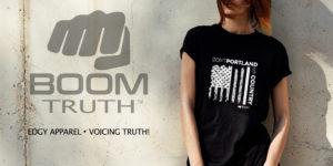 Womens Black Tshirt - Don't Portland My Country